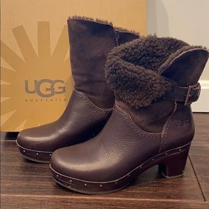 Ugg clog style midi boots